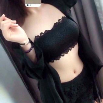 Bộ 2 áo ngực ren đen Bra không dây - Quảng Châu cao cấp