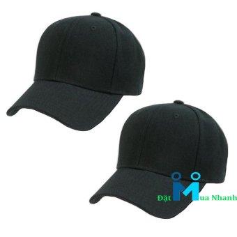 Bộ 2 nón lưỡi trai street style - F5 (đen)