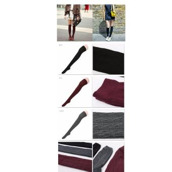 Vớ thời trang nhập khẩu Hàn Quốc hiệu Aglaia màu ghi/đỏ bordeaux