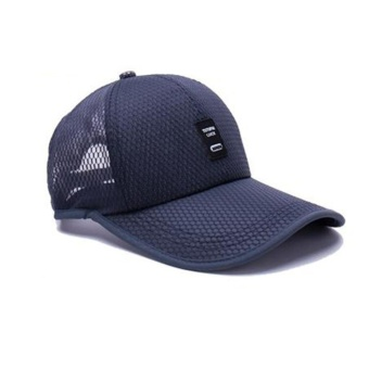Moonar Outdoor Sun Baseball Hat Fashion Colorful Golf Mesh Breathable Cap (Navy Blue) - intl
