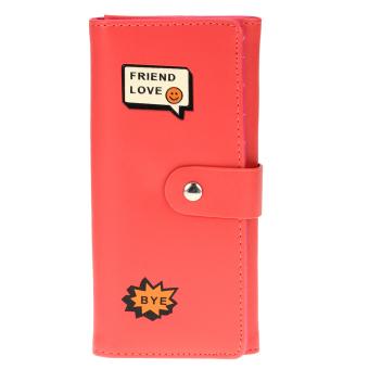 2016 Women PU Wallet (Watermelon Red) - intl
