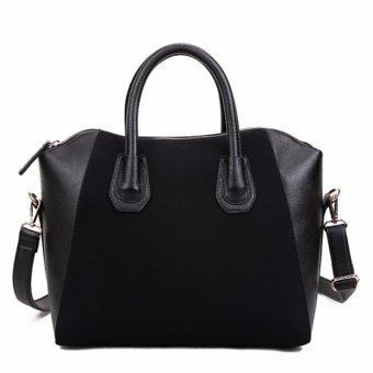 Women Lady Leather Shoulder Bag Tote Purse Handbag Messenger Cross Body Satchel Black - intl