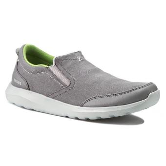 Giày lười nam Crocs Crocs Kinsale Slip-on Charcoal/Light Grey 203051-01W (Xám)
