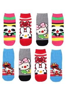 Bộ 8 đôi tất vớ trẻ em Từ 1-4 tuổi bé gái SoYoung 8SOCKS 004 1T4 GIRL