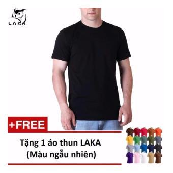 Áo thun nam LAKA màu đen LKA10 +tặng 1 áo thun nam cùng loại màu sắc ngẫu nhiên