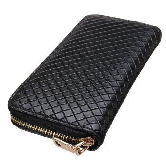 Women Lady Leather Clutch Wallet Long Card Holder Phone Case Purse Handbag HOT Black - intl