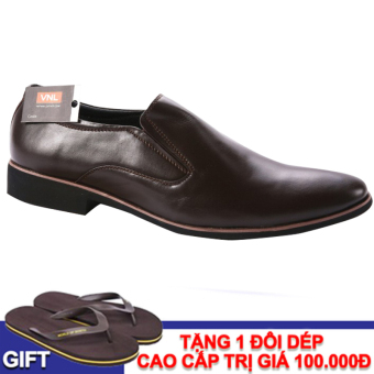 Giày tây nam da thật VNLMO5A45N (Nâu)