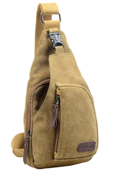 Fancyqube Multifunctional Casual Outdoor Mens Sports Canvas BagKhaki - Intl