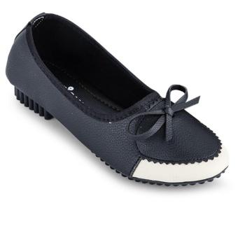 Giày búp bê đính nơ nữ Sarisiu SRS803 (Đen)