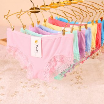 Combo 10 quần lót Modal pha viền ren Super Sale