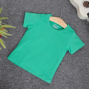 Áo thun trơn trẻ em KIDSTYLE cổ tròn, tay ngắn (xanh lá)