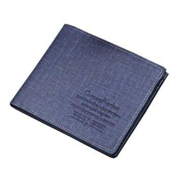 New Men Leather Card Cash Receipt Holder Organizer Bifold Wallet Purse - intl