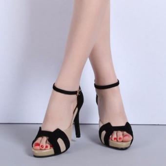 Giày Cao Gót Nữ Quai Viền Chữ H - LN1226 - Đen