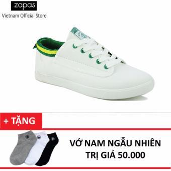Giày Sneaker Thời Trang Nam Zapas - GS061 ( Trắng ) + Tặng Vớ Nam Ngẫu Nhiên