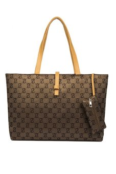 Fancyqube Summer Korean Style Fashionable Belt Buckle Shoulder Bag 6 Colors For Choosing Brown - Intl