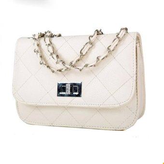 Teamtop Women PU Leather Messenger Satchel Crossbody Handbags s White - intl
