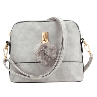 New Korean Women PU Leather Shoulder Bag (Gray) - intl