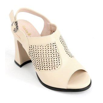Sandal nữ Sata&Jor SJ119 - Kem