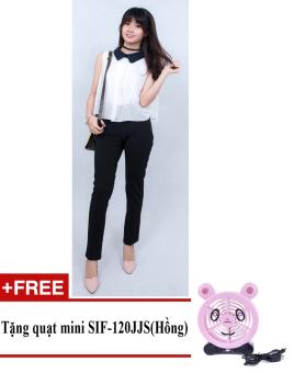 Quần tây nữ thời trang công sở ZASKIN ZA04Q3 + Tặng quạt mini shinil SIF-120JJS (Hồng)