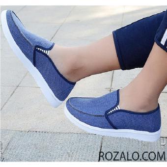 Giày lười vải nam Rozalo RM6548X - Xanh