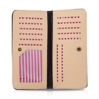 Fashion Ladies Long Wallet Credit Card Holder(Black) - intl