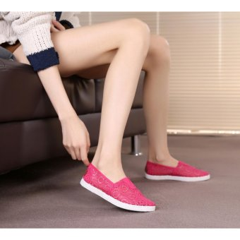 Giày Slip On Nữ Mai Hoa (Hồng)