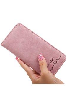 Bluelans Women's Retro Bifold Purse Money Bag Clutch Handbag Card Holder Wallet Pink (Intl)