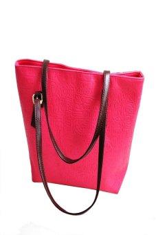 HKS Simple Winter Larger Capacity Leather Women Bag Shoulder Bag Hot Pink - Intl - intl
