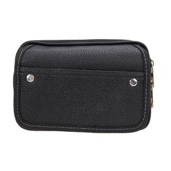 Men PU Leather Credit Card Holder Purse(Black) - intl