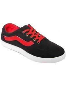 Giày thời trang nữ SoYoung Skateboard Sneaker WM TT 050 B (Đen phối đỏ)