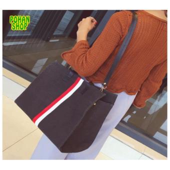 Túi Vải Bố Sọc Pohan VS3 ( Đen)