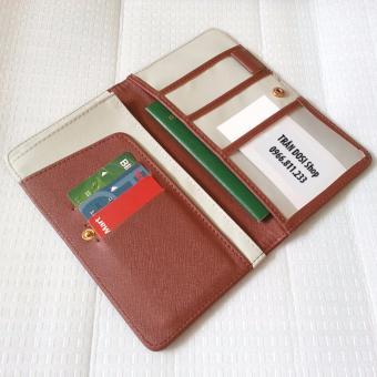 Ví bóp đựng Hộ chiếu, thẻ, card, CMT, GPLX (Nâu)