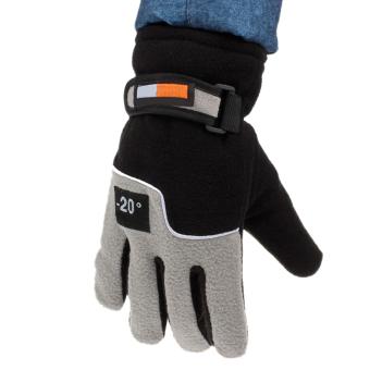 Men Winter Warm Fleece Ski Gloves Back - intl