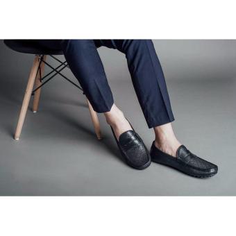 Giày lười nam Laforce họa tiết kẻ ca rô GNLA12996-D