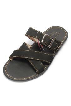 Giày xăng đan da bò cho nam Giày Đại Việt DMD335 (Đen)