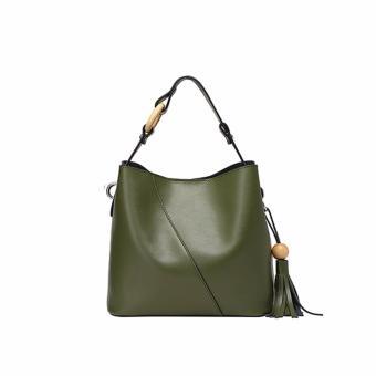 Túi xách nữ da thật cao cấp phong cách sang trọng QSL083 (Xanh lá cây) - 3819879