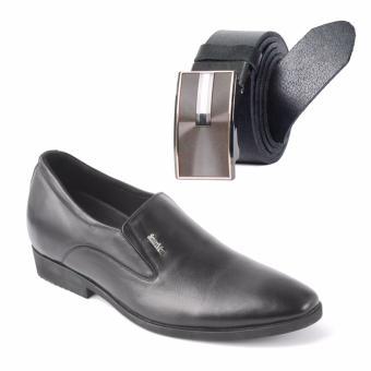 Giày lười công sở tăng chiều cao SMARTMEN H-11 và thắt lưng da