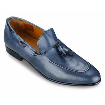 Giày Da Pierre Cardin Blue Tassel Loafer - PCMFWLA016