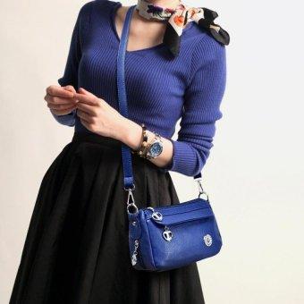 Fashion Women's Messenger Bag PU Leather Handbag Shoulder Tote Bag - intl