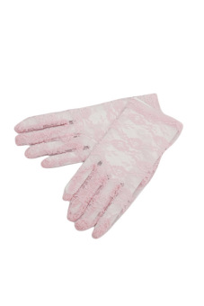 Fancyqube Women Lace Gloves Wedding Ritual Performances Gloves (Pink) (Intl)