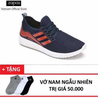 Giày Sneaker Nam Thời Trang Zapas GS067 ( Xanh Đen ) + Tặng Vớ Nam Ngẫu Nhiên