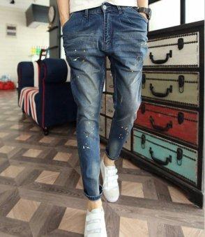Quần jeans họa tiết (Xanh Đen)
