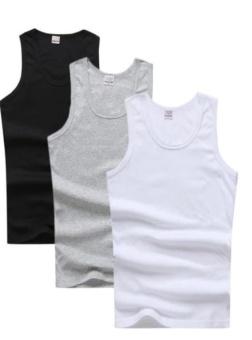 Combo 3 áo thun ba lỗ nam thoitrangtrandoanh (Đen/ Trắng/ Xám)