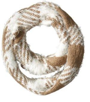 Khăn choàng cổ len nữ Steve Madden Women's Mixed-Yarn Checked Infinity Muffler (Mỹ)