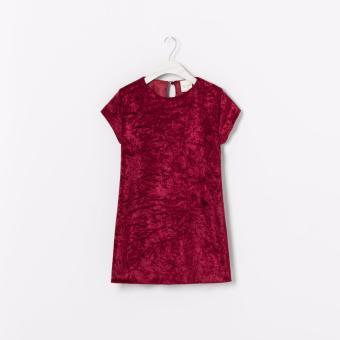 Đầm Suông Bé Gái Zara (Đỏ Mận)