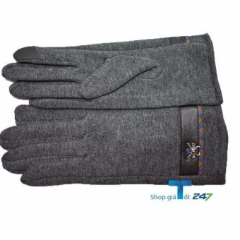 Găng tay giữ nhiệt Heattech cảm ứng (Ghi )