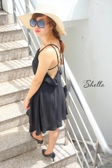 Đầm hai dây hở lưng Xavia Clothes Shella