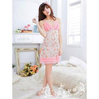 Đầm Ngủ Hoa Kèm Quần Lót Beyeu1688 BY5022
