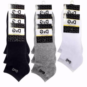 Combo 8 đôi Tất Vớ nam DG cổ ngắn hàng loại 1 khử mùi màu đen,xám, trắng