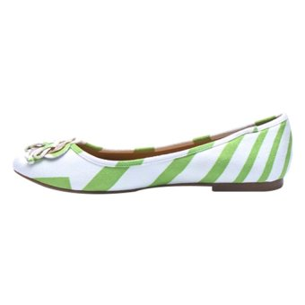 Giày búp bê Borani KS1104.6 (Xanh phối trắng)